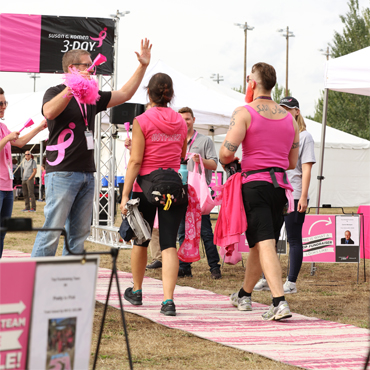 Mohawk Cushions all Seven Susan G. Komen 3-Day Walks for Third year
